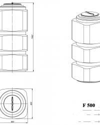 F-500 чертеж