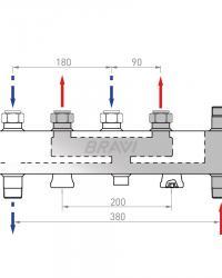 Распределительный коллектор HVW90 BRAVI