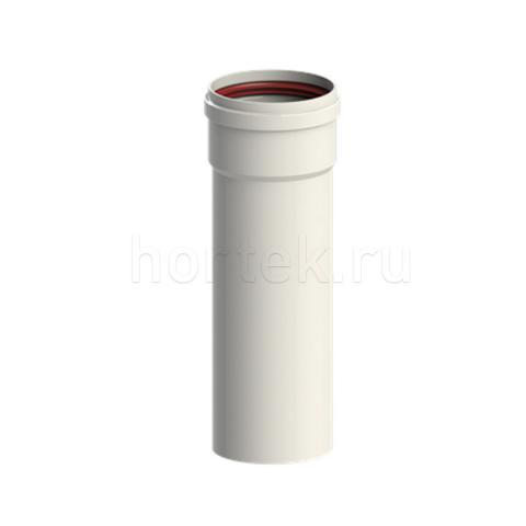 Прямой участок трубы 80 мм l=1 м, Al, белый